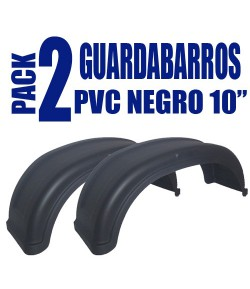 "Pack 2 guardabarros PVC 10"" Negro"