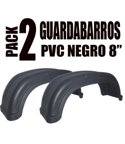 "Pack 2 guardabarros PVC 8"" Negro"